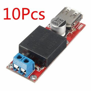 10Pcs DC 7V-24V To DC 5V 3A USB Output Converter Step Down Module