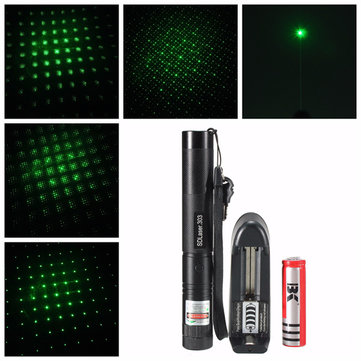 303 Adjustable Focus 1mw Green Laser Pointer Suit +Extension Tube