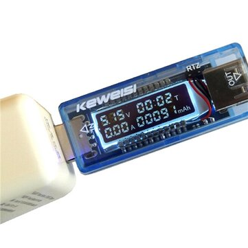 KEWEISI 4V-20V 0-3A USB Charger Power Battery Capacity Tester Voltage Current Meter