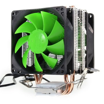 3Pin Dual Fan CPU Cooler Cooling Fan for Intel LGA775/1156/1155 AMD AM2/AM2+/AM3