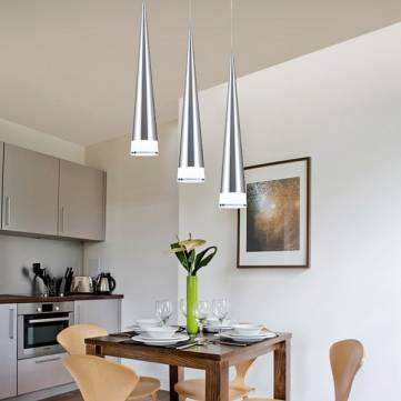 Single Head LED Pendant Light Modern Cone Metal Ceiling Hanging Lamp For Indoor Lighting AC110-240V