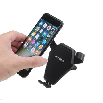 QI Wireless Fast Charger Car Air Vent Phone Holder Gravity Auto Lock for iPhone8 X/Samsum S9