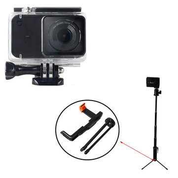 Accessories Kit Waterproof Shell Case+Self-timer+Tripod+Phone Clip for Xiaomi MIjia Camera(20% coupon: JC20)
