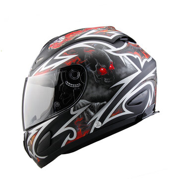 Motorcycle Full Face Racing Helmet Unisex Riding Road Motorcross Safety Fiberglass Helmets