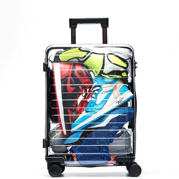 Xiaomi 90 FUN 20 Inch Seven Bar Transparent Suitcase TSA Lock Carry-on Luggage Case Outdoor Travel