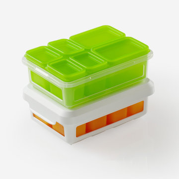 Xiaomi Silicone Food Snack Fruit Small Container Lunch Ice Cube Mold Compartment Box Microwave