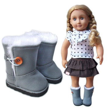 Girl BJD Doll Sport Cotton Boots Shoes 18inches DIY Doll Accessories Toy Without Reborn Baby Doll