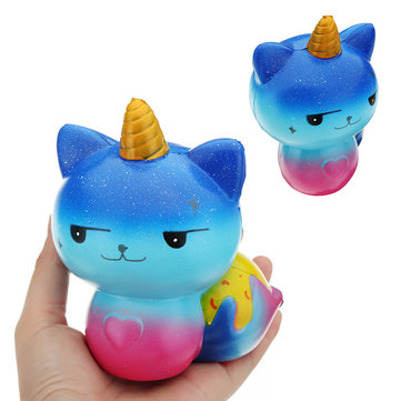 Galaxy Unicorn Cat Squishy 12*8.2CM Slow Rising Soft Collection Gift Decor Toy