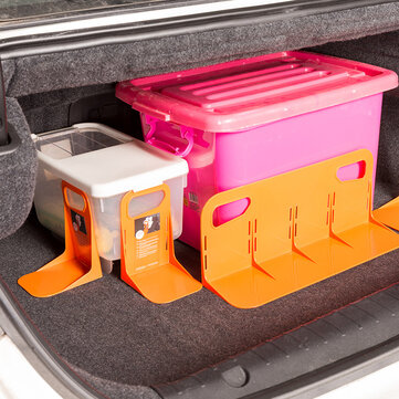 L-shape PP Car Trunk Storage Baffle Multifunction Storage Box Fixed Holder Stand