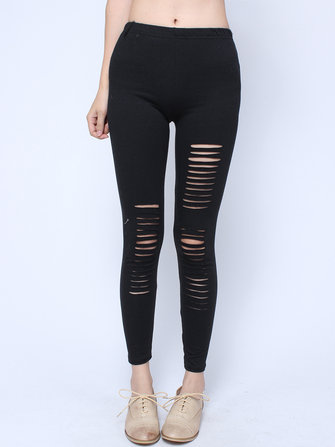 Punk Style Sexy Hollow Out Leggings