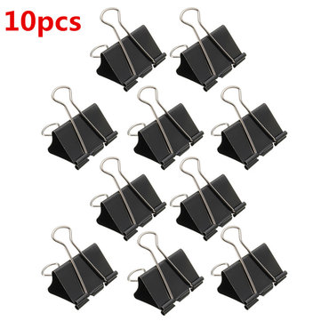 10Pcs Black Foldback Clips Grip Clamps Filing Letter Elliot Folder 51mm