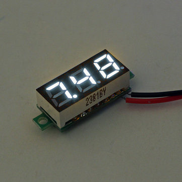 10Pcs Geekcreit® White 0.28 Inch 3.0V-30V Mini Digital Volt Meter Voltage Tester Voltmeter