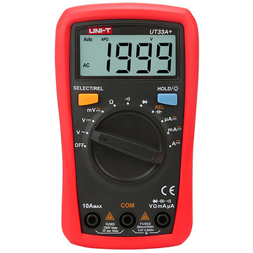 UNI-T UT33A+ Digital Pocket Multimeter Resistor Capacitor Diode Tester Backlight Auto Shutdown