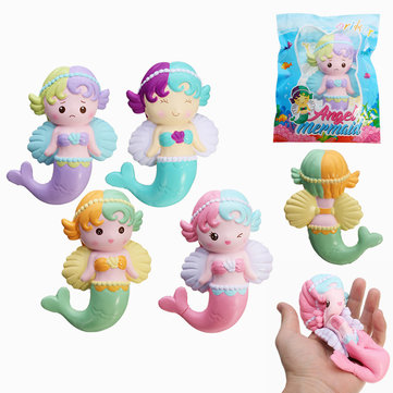 Orchester Squishy angelo Mermaid 16cm Soft Sweet Slow Rising Decorazione regalo di raccolta di confezione originale