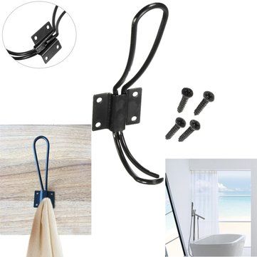 Door Wall Mount Hanging Hooks Home Towel Clothing Clothes Hat Coat Hanger