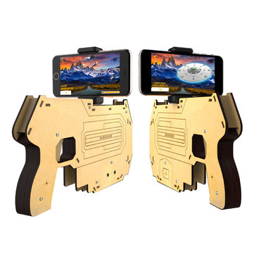 Wooden Bluetooth AR Augmented Reality Toy Game Gun For Smartphone