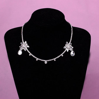 Bride Silver Chain Wedding Crystal Rhinestone Bridal Head Hair Headbrand Headpiece Jewelry