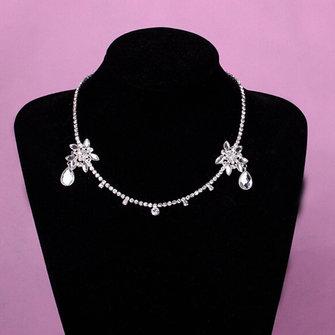 Bride Silver Chain Wedding Crystal Rhinestone Bridal Head Hair Headbrand Headpiece Jewelry