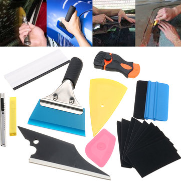 10 In 1 Window Tint Tools Car Wrapping Application Kit Sticker Vinyl Sheet Squeegee