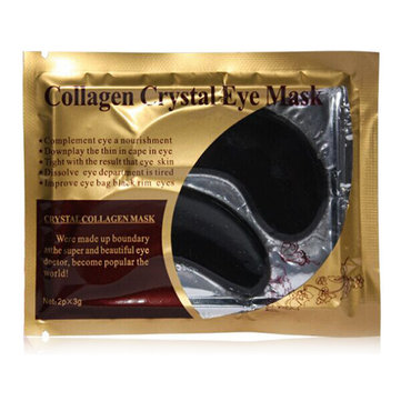 Black Collagen Eye Mask Squishy Anti Wrinkle Repair Moisturize Whitening Facial Skin Care