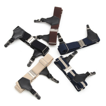 1Pair Suspender Double Grip Clip Men's Sock Adjustable Elastic Single Durable Buckle