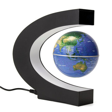 100-240V AC Magnetic Levitation Floating Globe Map Rotation Electronic LED US Plug Desktop