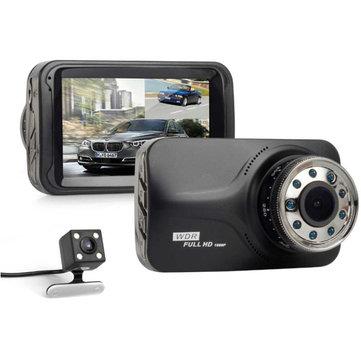 3.0 Inch Dual Len Camera HD Car Video Recorder DVR Dash Cam G-Sensor Night Vision