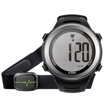 EZON T007 Heart Rate Monitor 50M Waterproof Digital Watch