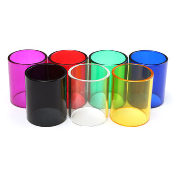 22x26.5mm Colored Replacement Transparent Pyrex Glass Tube Sleeve Tank for Subvod Mega