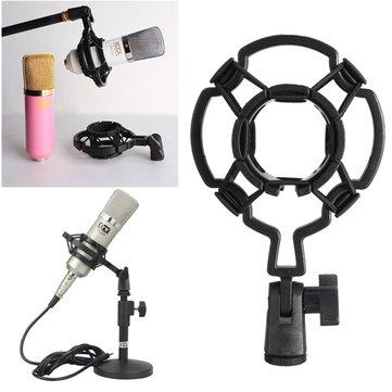 Soporte de Montaje de Choque de Micrófono de Estudio para Condensdor de Diafragma Grande Clip de Micrófono