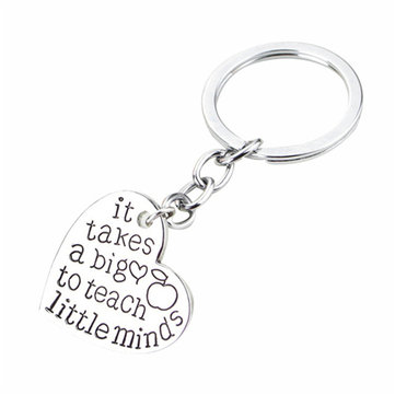 Teachers' Day Keychain Gift Love Heart Pendant Presents Key Chain Keyring Accessories