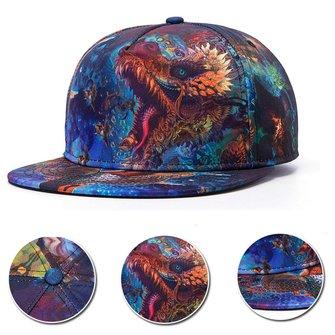Unisex 3D Chinese Dragon Printed Snapback Baseball Cap Hip-hop Adjustable Hat For Men Women