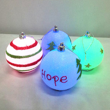 battery led christmas tree baubles hanging decoration ball christmas gifts - Battery Operated Christmas Decorations