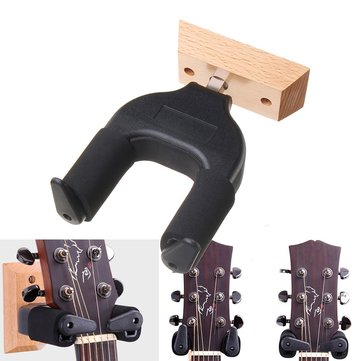 Electric Guitar Wood Hanger Stand Holder Wall Mount Hooks with Screws