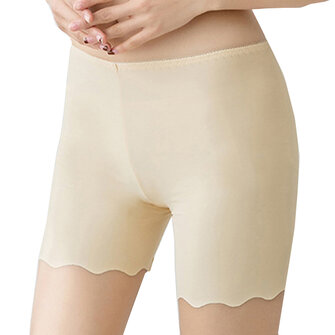 Cosy Seamfree Ice Silk Wave Cut Hip Lifting Stretchy Breathable Thin Boyshorts