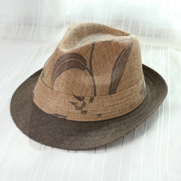 Men Women Outdoor Casual Linen Jazz Hat