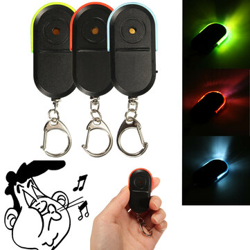 Wireless Anti-Lost Alarm Key Finder Locator Keychain Whistle Sound with LED Light
