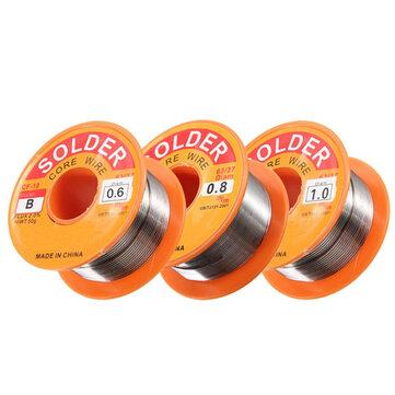 0.5 / 0.6 / 0.8 / 1.0mm 63/37 FLUX 2.0% 45FT Lata de plomo de estaño Alambre Melt Rosin Core Soldadura Soldadura Alambre Rollo
