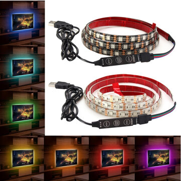 1M Waterproof USB SMD5050 120 LED RGB Strip Light Bar TV Background Lighting Lamp 5V