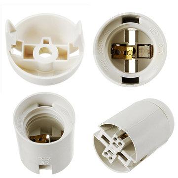 E27 Base 4A Black White Lamp Socket Holder for LED Bulb Energy Saving Light AC250V