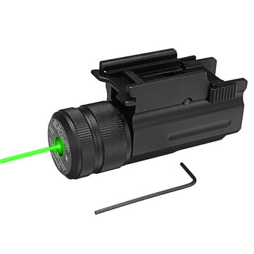Green Laser Beam Dot Sight Scope Hang Type Compact Tactical Picatinny 20mm Rail Mount