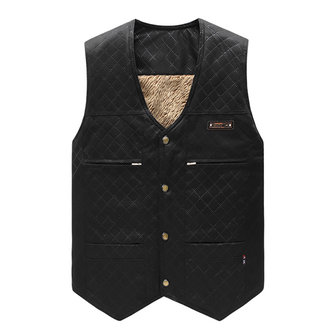 Mens Autumn Winter V-neck Thick Muti-pocket Vest Sleeveless Button Waistcoat