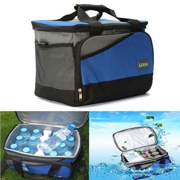 IPRee di viaggio del sacchetto di immagazzinaggio pieghevole d'escursione di campeggio di picnic del BBQ Ice Bag pacchetto bevande Cibo dispositivo di raffreddamento isolato Box