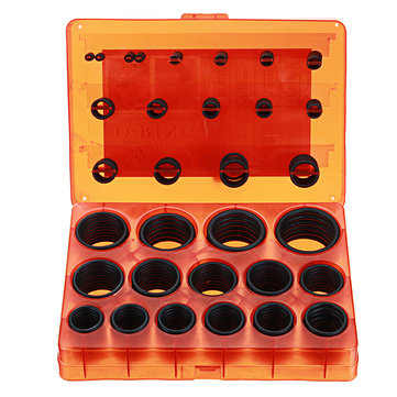 382Pcs Universal O-Ring Assortment Kit Metric Rubber O-Ring Washer Automotive Storage Case ORing Set