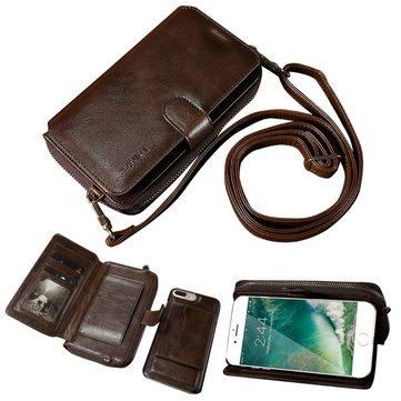 فلوفيم انفصال زيبر محفظة حالة ل iPhone 7 Plus/8 Plus
