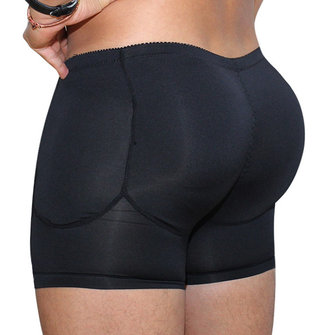 Mens Plus Size Butt Lifting Compression Underwear with Pads
