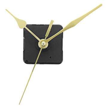 5pcs 20mm Shaft Length Gold Hands Quartz Wall Clock Silent Movement Mechanism Repair Parts