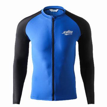 Man Swimsuit Long Sleeve Sun Protection Wetsuit Swimwear