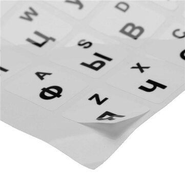 Russian Standard Keyboard Stickers For White Standard Keyboard