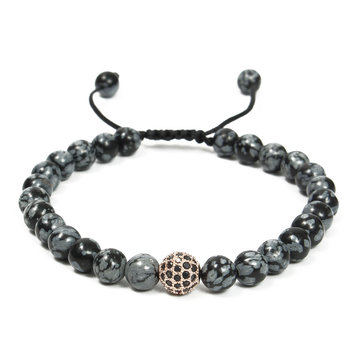 Beads Men Women Bracelet Stone Adjustable Elastic Bangle Chain